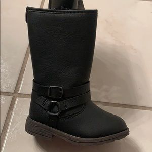 NWT-Toddler Girls Carter's Cicily Black Tall Boots